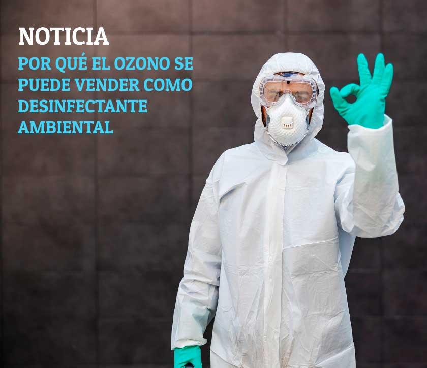 Por qué el ozono se puede vender como desinfectante ambiental si aún no está reconocido en Europa como biocida